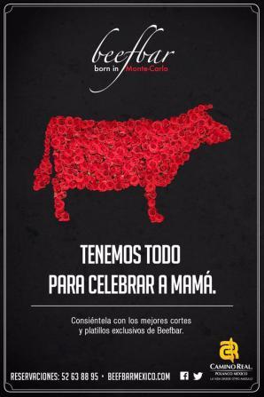 Beefbar ofrece cocina contemporánea de muy alta calidad.  Para esa mamá exigente con paladar viajado, este puede ser un gran regalo.