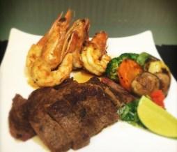 Mar y tierra: Un excelente filete resultó sorpresa en un restaurante japonés.