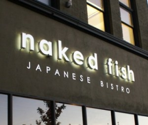 naked fish exterior sign