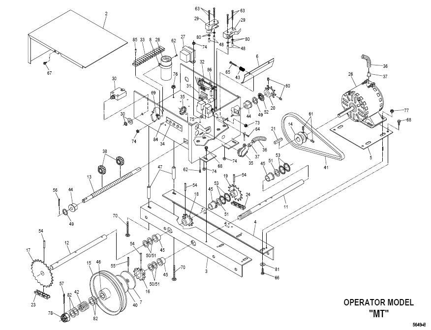 commercial door operator wiring diagram