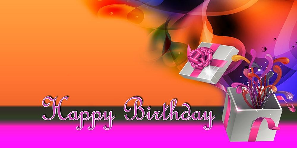 Happy Birthday Banner - Pink Gift - Vinyl Banners Gatorprints
