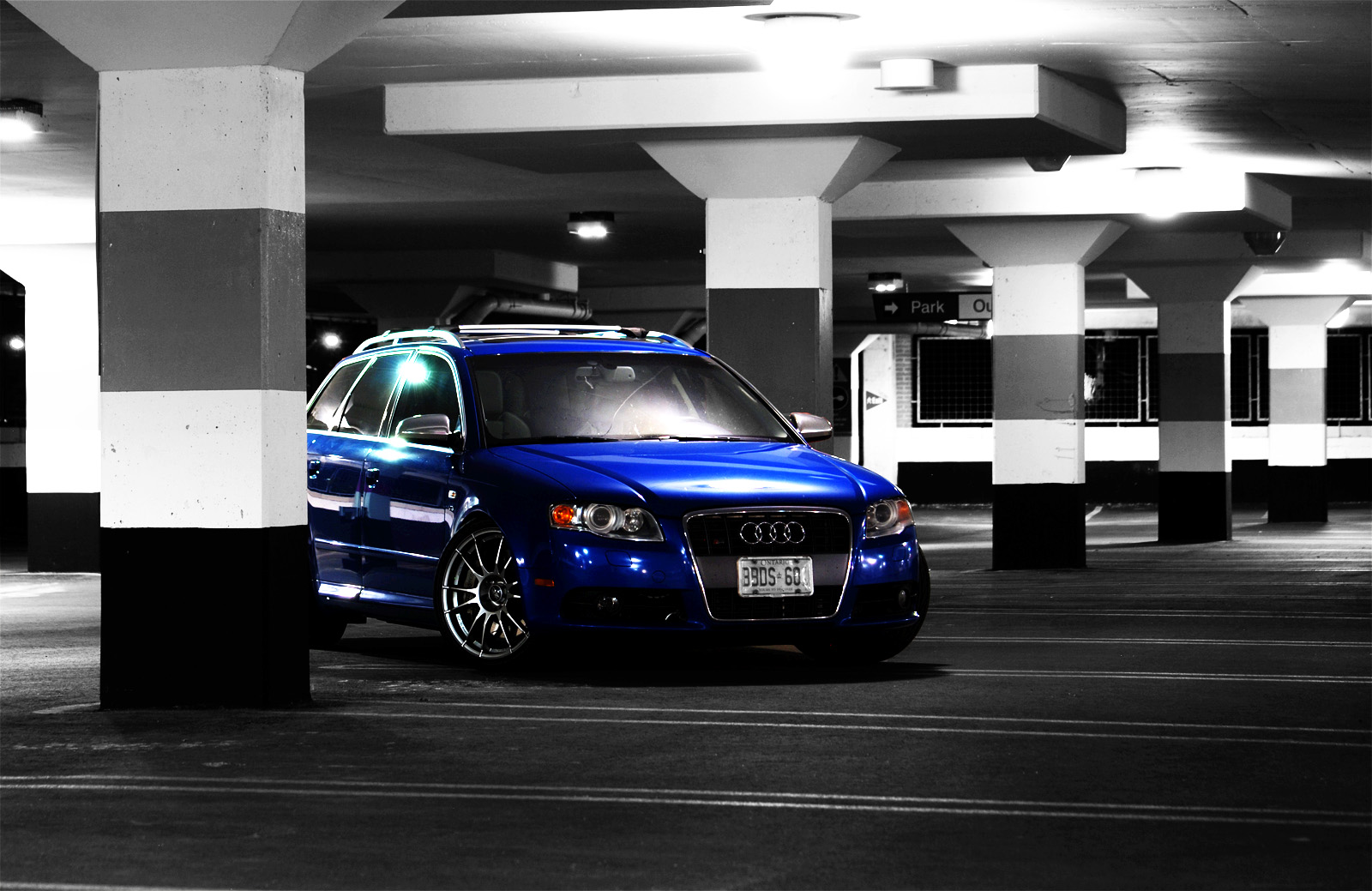 Audi A6 Wallpaper Hd Sprint Blue B7 S4 Avant Photoshoot Parking Garage Audi