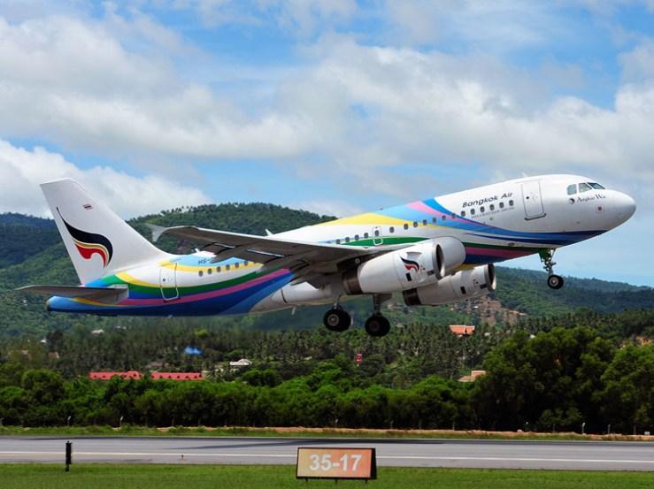 Bangkok Airways - Airbus 319 with the capacity of 138 seats