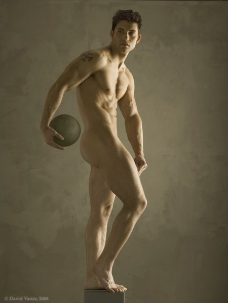 Statuesque Male Nude Male Perfection by Photographer David Vance