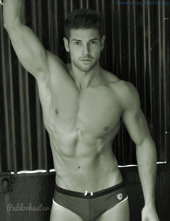 The Bulge Of Gorgeous Muscled Guy Jeremy Baudoin 2
