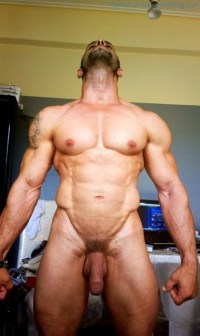 Naked Muscle Guys Showing Off