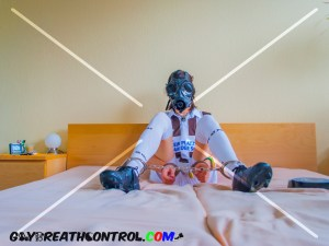 EmoBCSMSlave: Soccer and Breath Control w/ Gas Mask