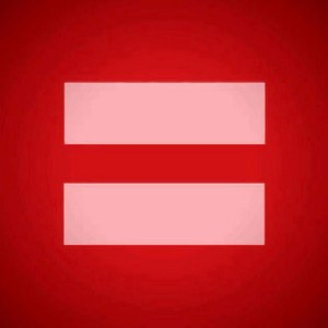 red equality sign