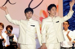 Kim Jho Gwang-soo and his partner Kim Seung-hwan