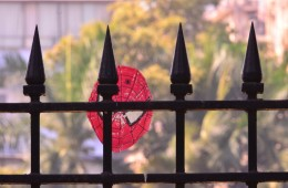spiderman mask at gate