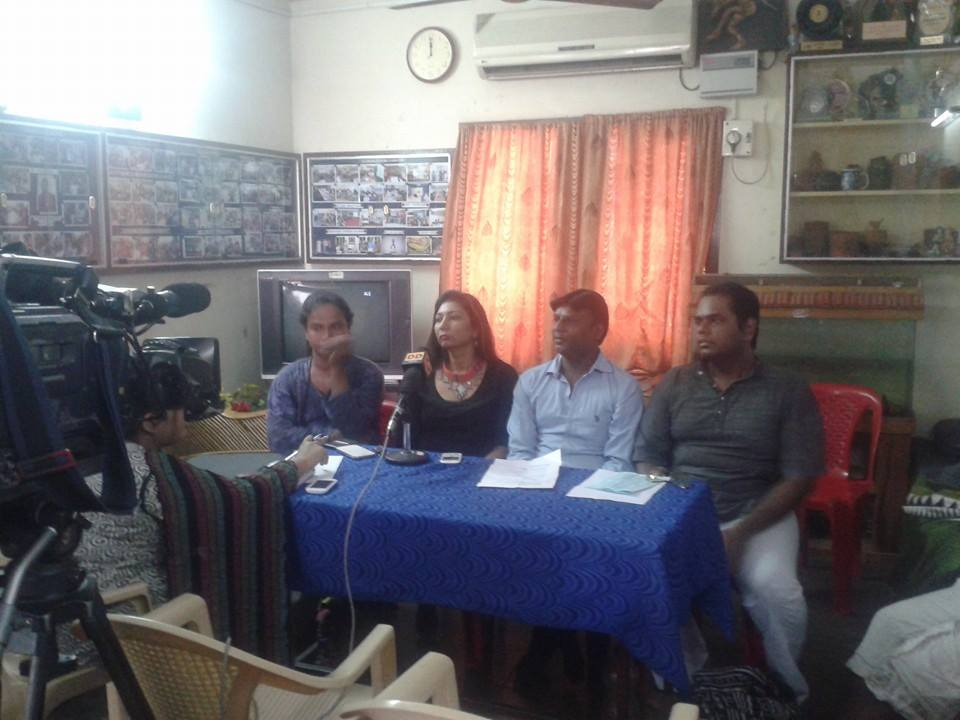 Activists addressing a press conference in Chennai announcing the formation of Christians Against Homophobia group