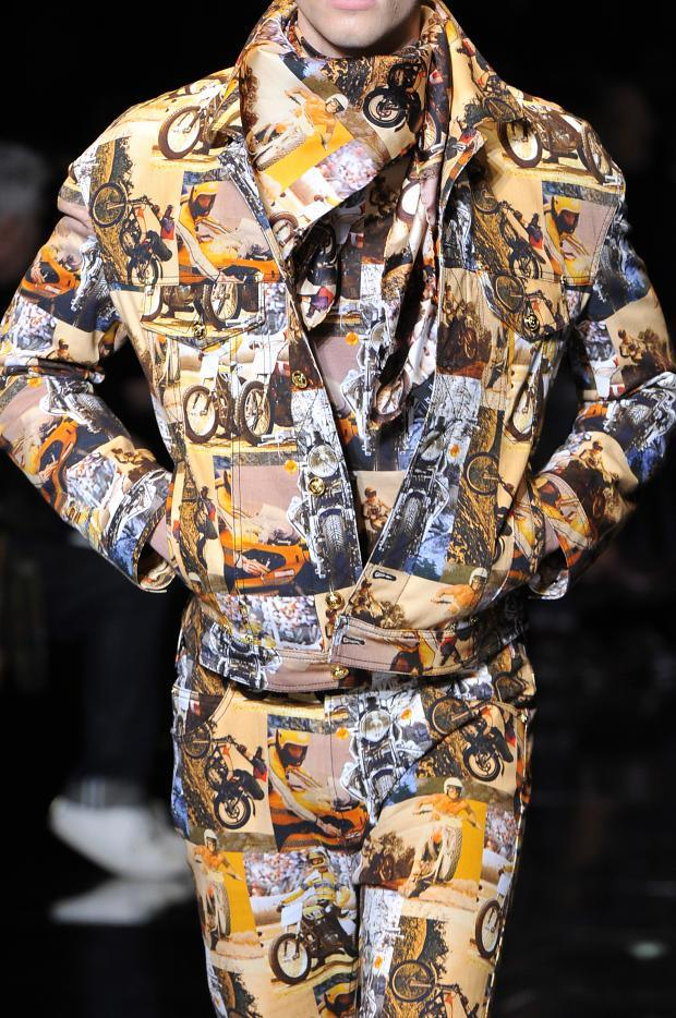 Motorcycle printed Suit at Versace