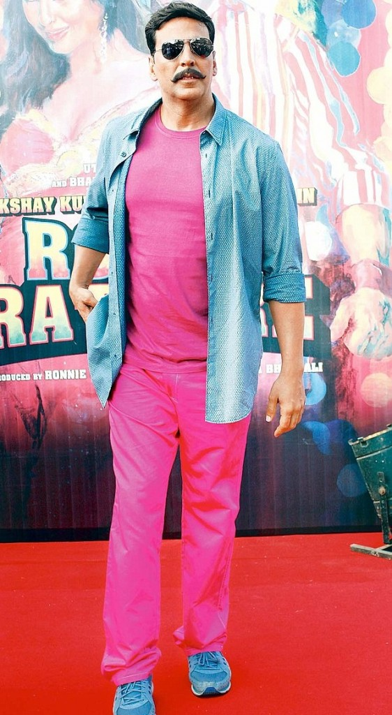 Akshay Kumar at the promo of Rowdy Rathore. picture source: dailymail.co.uk