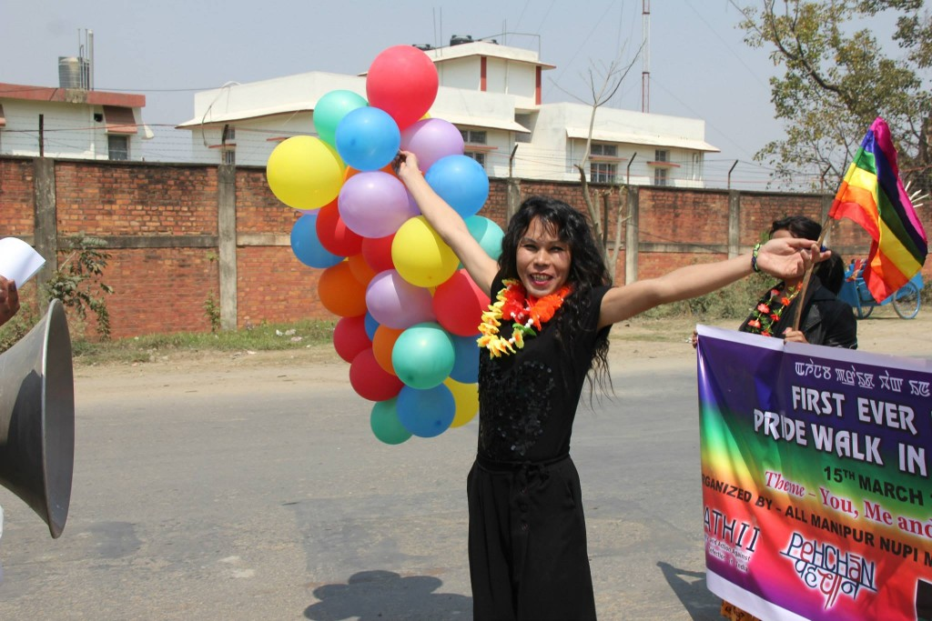 A Participant at Imphal's first pride march (Photo by: Kaushik Gupta)