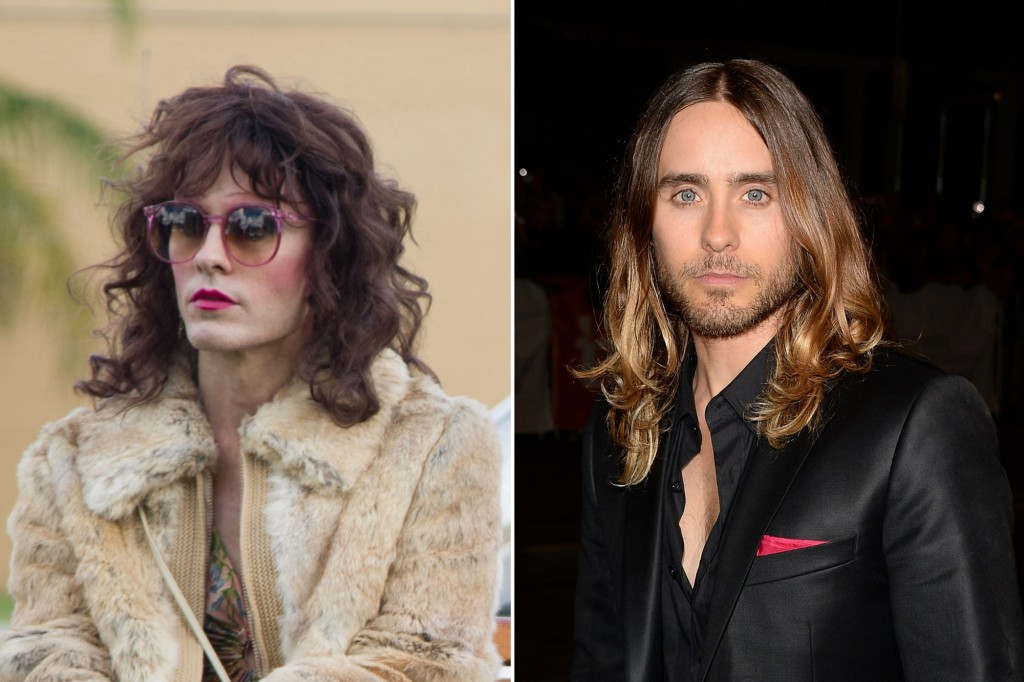 Actor Jared Leto playing the role of a trasngender woman in Dallas Players Club