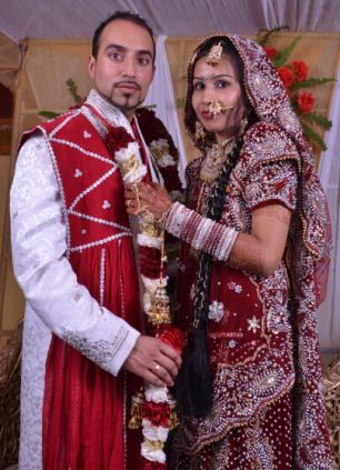Marriage picture of Jasbir Ram Ginde with Varkha Rani