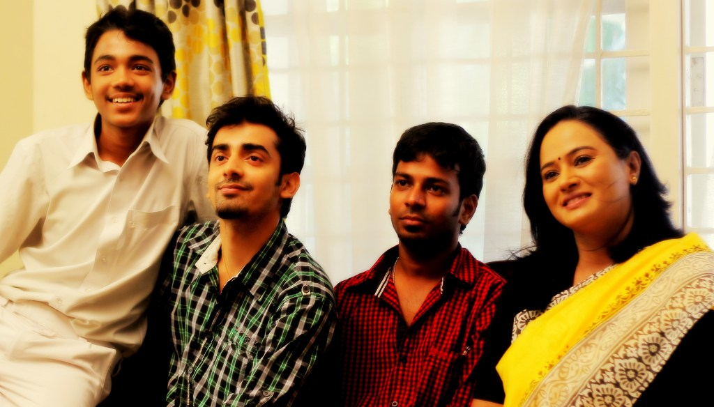 Right to left: Anupama, Lokesh, Nakshatra & Sharath