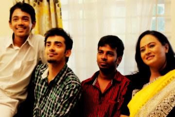 Right to left: Anupama, Lokesh, Nakshatra & Sharath