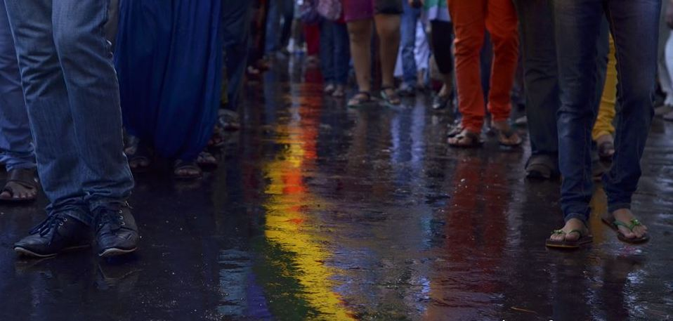 Rain lashed the city but not the Annual Pride Walk in Kolkata.