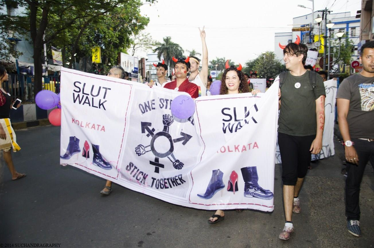 Suzette Jordan at Slut Walk Kolkata (Photo by: Suchandra Das)