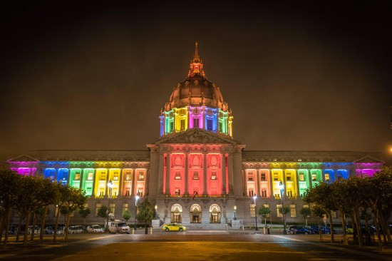 City Hall at Night Pride 2015 copy