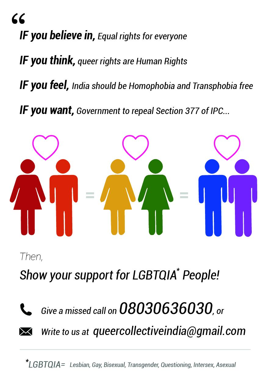 A pamplet for the Missed Call campaign asking people to show their support by giving a missed call