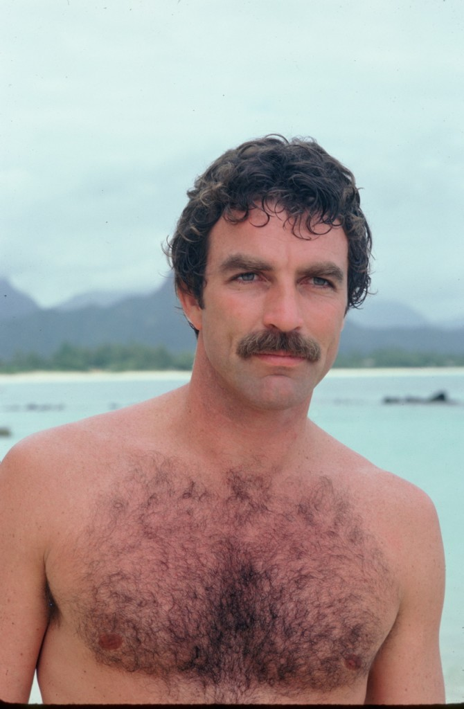 moustache, shirtless, tom selleck