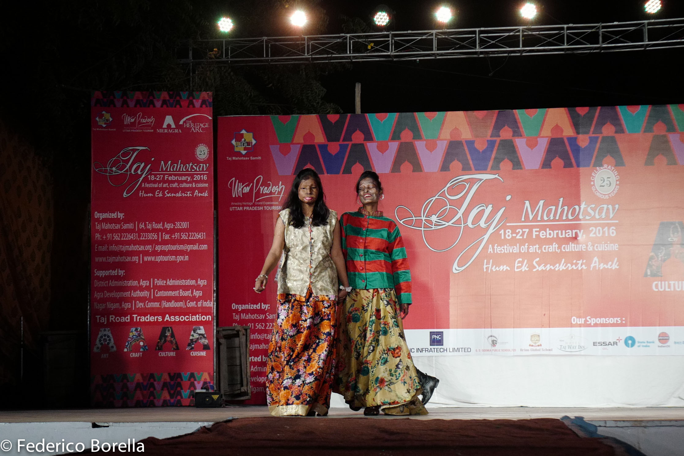 Acid Attack Survivors walking the ramp at Taj Mahotsav