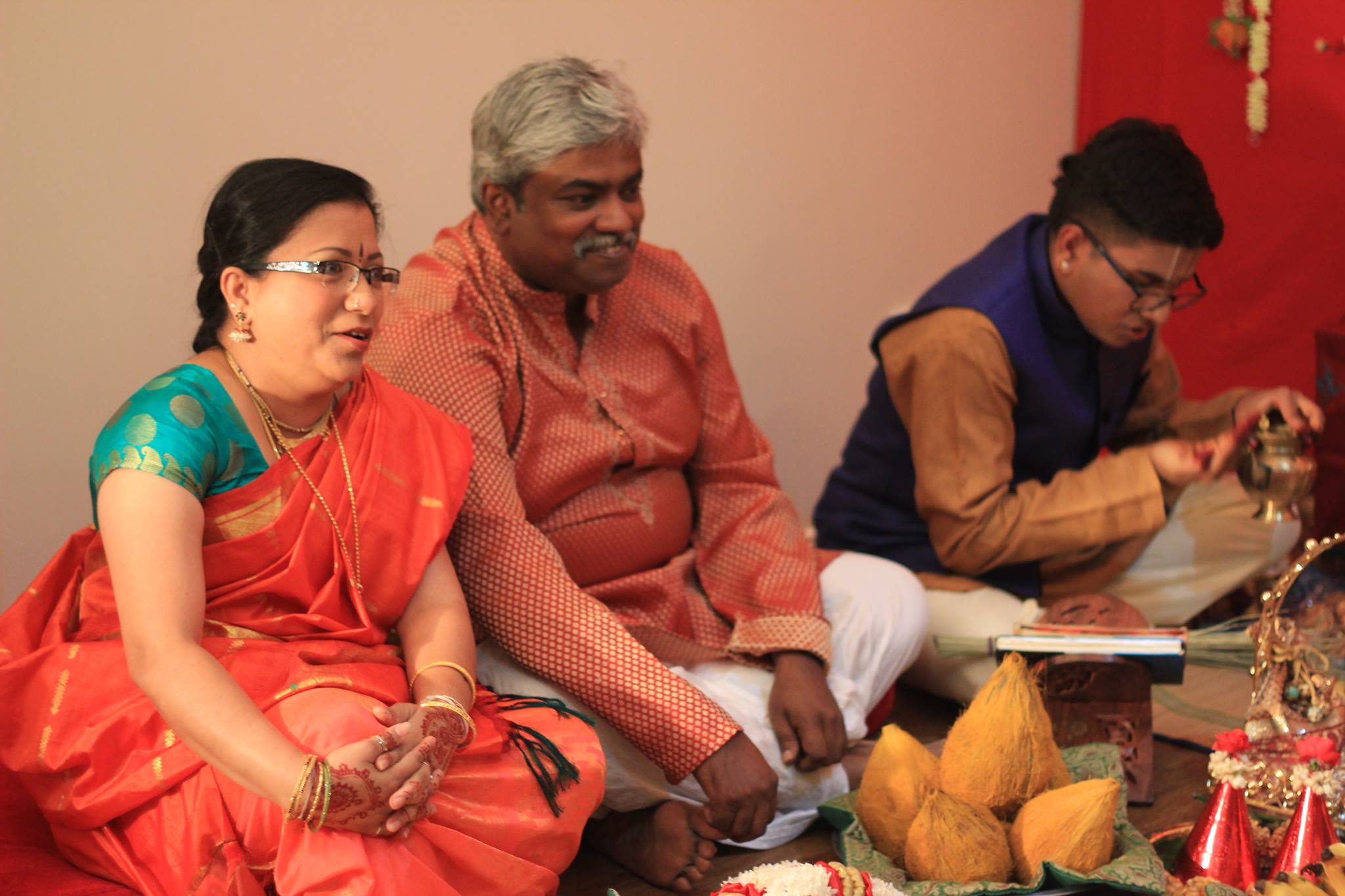Parents of Salaphaty sit for the engagement ceremony of their son