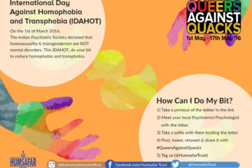 'Queers Against Quacks'
