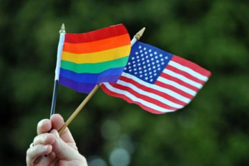 rainbow, flag, US
