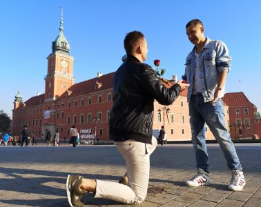 gay couple, poland, proposal, gay marriage,