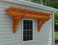 Red Cedar Eyebrow Breeze Wall Mount Pergolas | Pergolas by ...