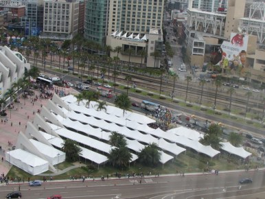 The tents look so lonely now...