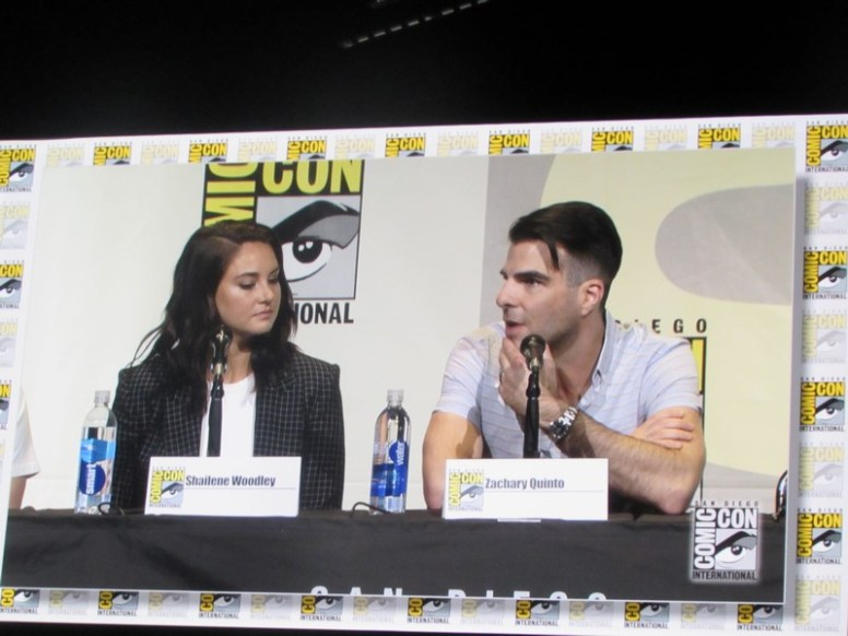 SDCC 2016, Snowden, Shailene Woodley, Zachary Quinto