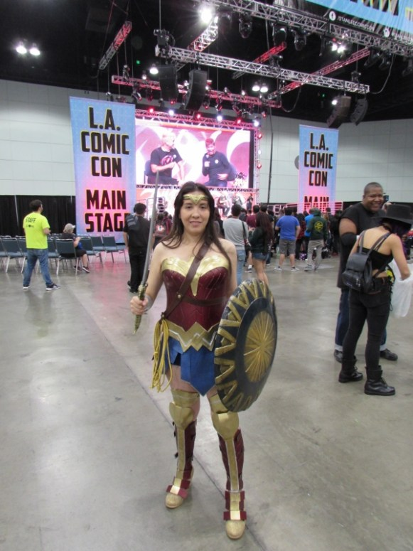 Wonder Woman cosplay at LA Comic Con 2017