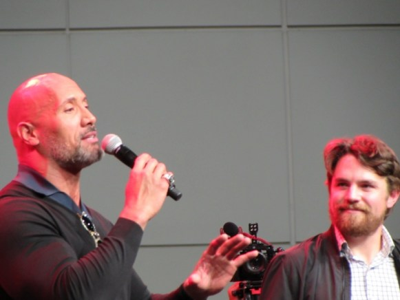 The Rock at LA Comic Con 2017