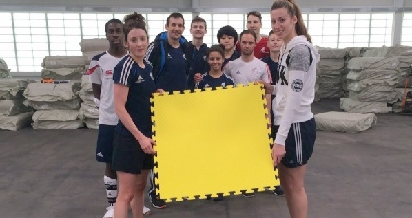 Olympic And World Champion's Place 1st Iconic Mat At Manchester's Medal Factory