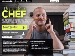 BitTorrent page promoting Tim Ferriss' new book