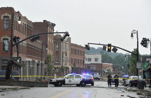 Damage from the June 1, 2011 tornado which struck Downtown Springfield and neighboring communities