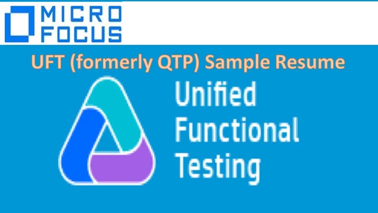 qtp uft sample resume