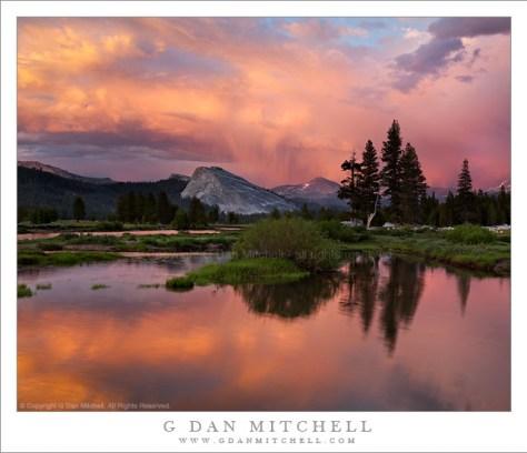 Sunset Virga Above Mount Dana, Tuolumne Meadows