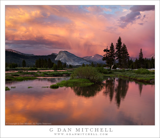 Sunset Virga Above Mount Dana, Tuolumne Meadows