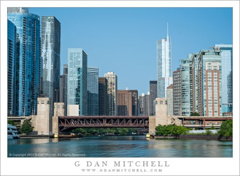 Chicago River and Downton Skyline, Morning