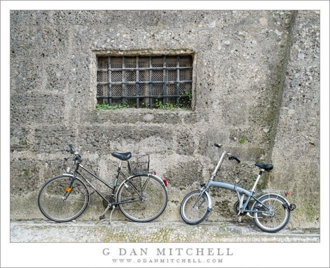 Bicycles, Old Wall