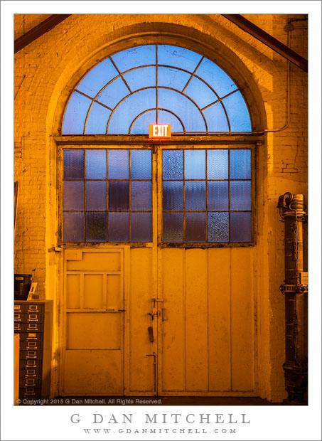 Exit, Yellow Doors, Blue Windows