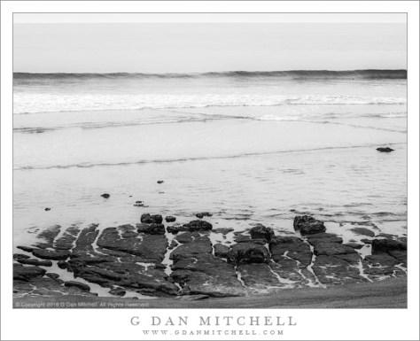 Rocks, Wave, Horizon