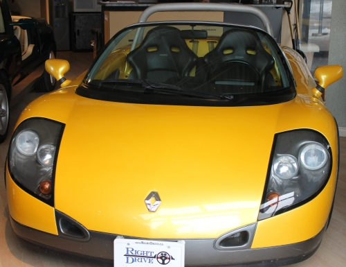Front view of the little Renault Sport Spider. Pretty sweet!
