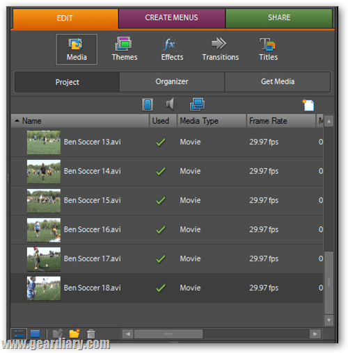 adobe premiere user interface tabs