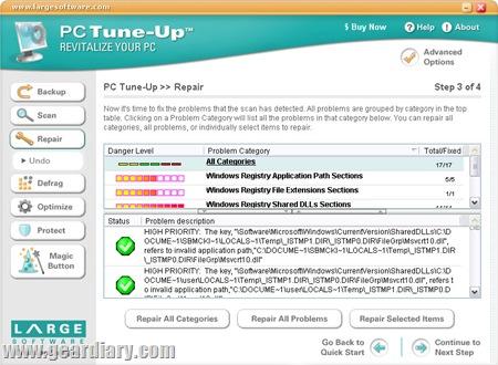 Screenshot - repair screenshot (by Large Software)